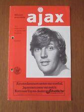 Ajax v Manchester United football programme 1976 - UEFA Cup 1st round 1st leg