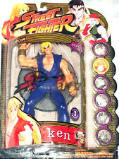Street Fighter KEN Action Figure BLUE Outfit Player 2 Round One Resaurus