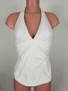Athleta Shirrendipity Halter Tankini Top in White Size Medium M