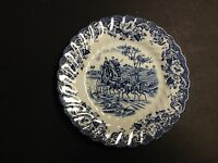 """Johnson Bros Ironstone Coaching Scenes Blue Hunting Country - 6-1/4"""" BREAD PLATE"""