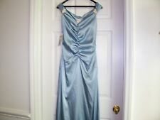 JESSICA MC CLINTOCK BLUE SLEEVELESS  LONG GOWN/DRESS SIZE 8