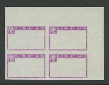 Guernsey SARK 1966/7 Frame PROOF purple no gum block4
