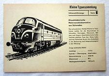 DDR Kleine Typensammlung Schienenfahrzeuge - Dieselelektrische Mehrzwecklok