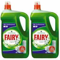 2 x 5 Litre Fairy Original Professional Washing Up Liquid Detergent 5L Manual UK