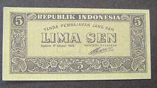Indonesie - Indonesia 5 Sen 1945 Lima Sen 1945 PR/XF - UNC P 14