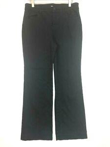 Chicos trouser jeans wide leg denim black size 1 US 8 medium hemmed