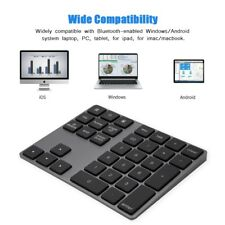 Wireless Numeric Keypad Number 34 Key Pad Keyboard BT3.0 For Windows/iOS/Android