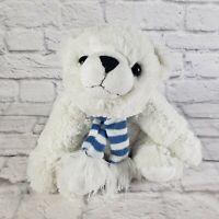 "Animal Adventure 11"" White Polar Bear Plush Winter Scarf"