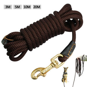 Rope Dog Long Line Leash Obedience Training Recall Pet Lead Rolled Small Large