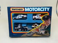 MATCHBOX-MOTORCITY-MC13-POLICE SET-(POLICE, RESCUE)---1987---CHECK IT OUT-------
