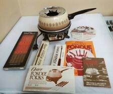 VTG Oster Electric Fondue Set 120v 750w W/ Cookbook & Extra Fondue Forks Works