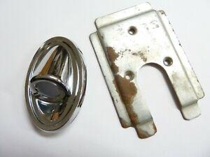 ORIGINAL 1969-1972 PONTIAC GTO FIREBIRD GP REARVIEW MIRROR BEZEL & BRACKET USED