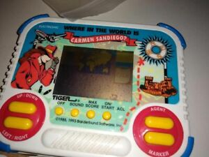 Where In The World Is Carmen Sandiego? Tiger Electronics Handheld LCD Game RARE!