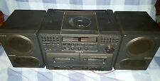 Vintage Sony CFD-470 AM/FM Stereo Dual Cassette CD Boombox w/2-Way Speakers LOOK