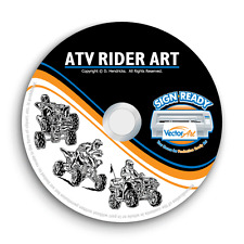 ATV RIDER CLIPART -VECTOR CLIP ART-VINYL CUTTER PLOTTER IMAGES & EPS GRAPHICS CD