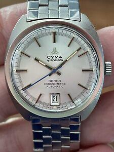 Vintage Automatic Cyma by Synchron Chronometer 36000