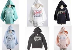 On Sale Elwood Ladies Fleece Pullove Hoodie Sweatshirt Hooded Jumper Top SZ XS-L