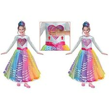 Barbie Deluxe Rainbow Magic Dress Age 3-5 - Girls Costume Fancy Outfit Childs