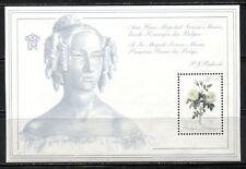 """FLOWERS: """"TEA ROSES"""" ON BELGIUM 1989 Scott B1083 SOUVENIR SHEET, MNH"""