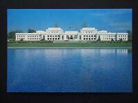 AUSTRALIA POST PRE-STAMPED 22c SERIES III 3-C2 PARLIAMENT HOUSE 1981 POSTCARD