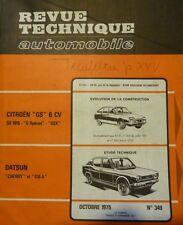 Revue technique DATSUN CHERRY + 120A RTA 349 1975 + CITROEN GS 1015 SPECIAL GS X