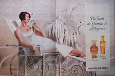PUBLICITÉ 1966 FEMME ET MADAME DE MARCEL ROCHAS PARFUMS DE CHARME - ADVERTISING