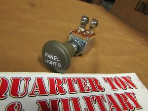 Panel light switch Museum Quality with metal knob G503 Fits MB GPW Willys jeep
