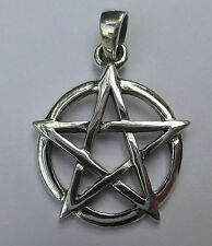 Sterling Silver (925) Pentagram Pendant ( 20 mm )  !!         Brand  New  !!