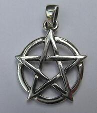Plata Esterlina (925) Pentagrama Colgante (17 Mm)!! Nuevo!!