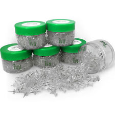 Ivy Stationery – Clear Push Pins – Pack of 1200 – 7mm Plastic Head – TUB572
