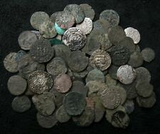 Huge lot 100 Medieval coins CRUSADER coin lot mixed XI-XVI century silver bronze