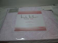 Nicole Miller Home Pink & White Floral Full Duvet Cover and Shams Set ~ Flowers