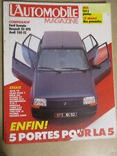 L'AUTOMOBILE MAGAZINE N°468: 06/1985: FORD SCORPIO - AUDI 100 CC - ALFA 75 - B7
