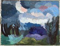 Malerin Brigitte Tietze Berlin Landschaft mit Wolken Ernst Schumacher Schule