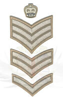 NEW & USED BRITISH ARMY SURPLUS FAD RANK STRIPE CHEVRONS,LANCE,CORPORAL,SERGEANT