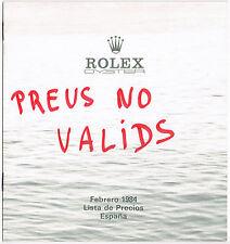 Rolex vintage 1984 listino prezzi al dettaglio SPAGNA 16800 16550 16660 16750 6265 5500 OEM