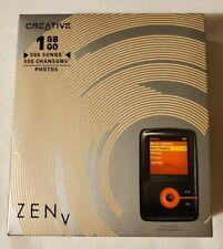 New listing *Nib Creative Labs Zen V 1Gb Black/Orange Portable Media/Mp3 Player Songs Photos