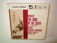 GUSTAV MAHLER Song Of The Earth REINER RCA Victor 7.5 IPS FTC-3002 klangfilm ton