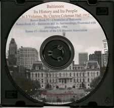 Baltimore-Its History and Its People 3 Vols 2,200 pages