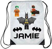 Personalised Kids Lego Batman Gym Bag School/Swimming Boys/Girls
