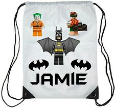 Personalised Kids Lego Batman Gym Bag School/Swimming Boys/Girls
