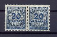 DR 319 AWb 20 Mio schwarzblau postfrisch im Paar geprüft (rs143)