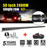 50inch 2400W Barre LED Rampe Light bar phare de travail SUV ATV 4x4 Offroad 52""