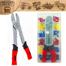 Crimping Cutter Cable Wire Stripper Pliers Electrical Crimper Cutting KIT 175pc