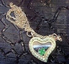 Unbranded Heart Crystal Glass Costume Necklaces & Pendants