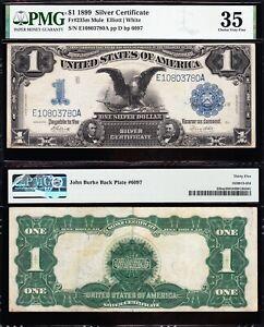 "Amazing Crisp Choice VF++ ""MULE"" 1899 $1 Black Eagle Silver Cert.! PMG 35! 03780"