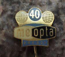 1973 Meopta Prerov Movie Camera Film Reels Photographic Stereo Logo Pin Badge