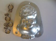 Vintage 1974 Wilton Easter Chick Chocolate Candy Mold Original Clips Aluminum