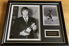 GEORGE BEST Stunning Hand Signed Manchester United Framed Football Photo Display