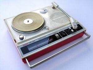 ACIKO PR-727 PLATTENSPIELER RADIO KOFFERGERÄT TRAGBAR 70er Bastler